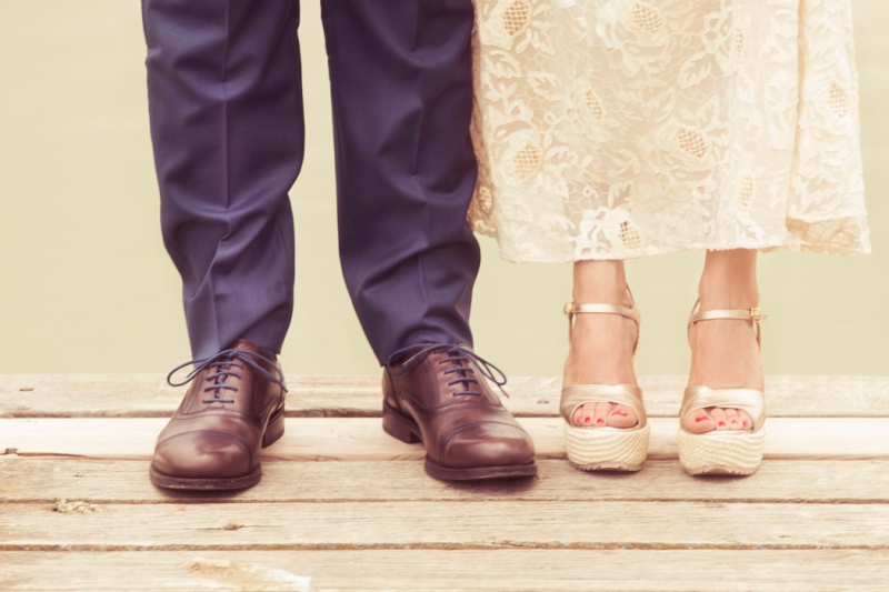 Pies de boda
