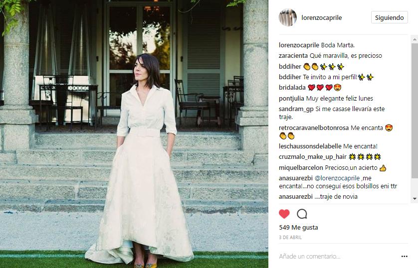 Vestido de novia inspirador de Lorenzo Caprile